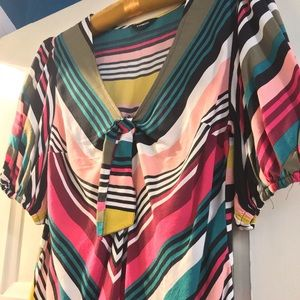 70's Style striped blouse